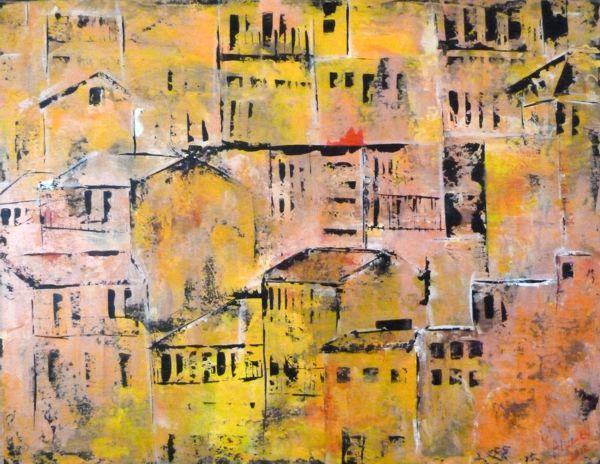 Kleuren van de stad (90 x 70)