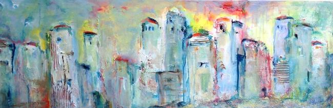 Rijtje in pastel (120 x 40)