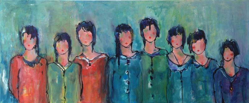 De meisjes (120 x 50)