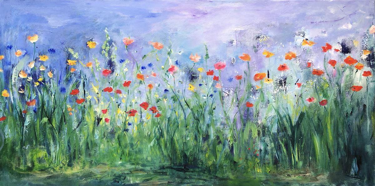Ik strooi bloemen op je pad (140 x 70)