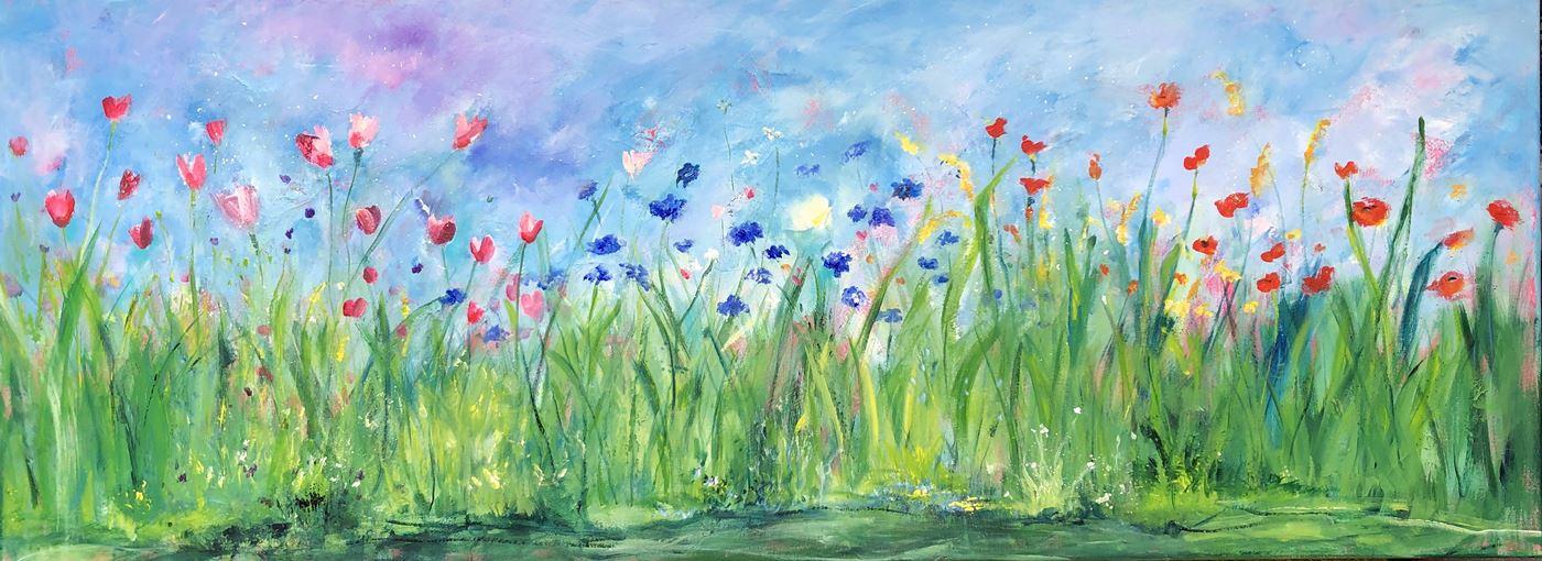Ik houd de zomer vast (160 x 60)