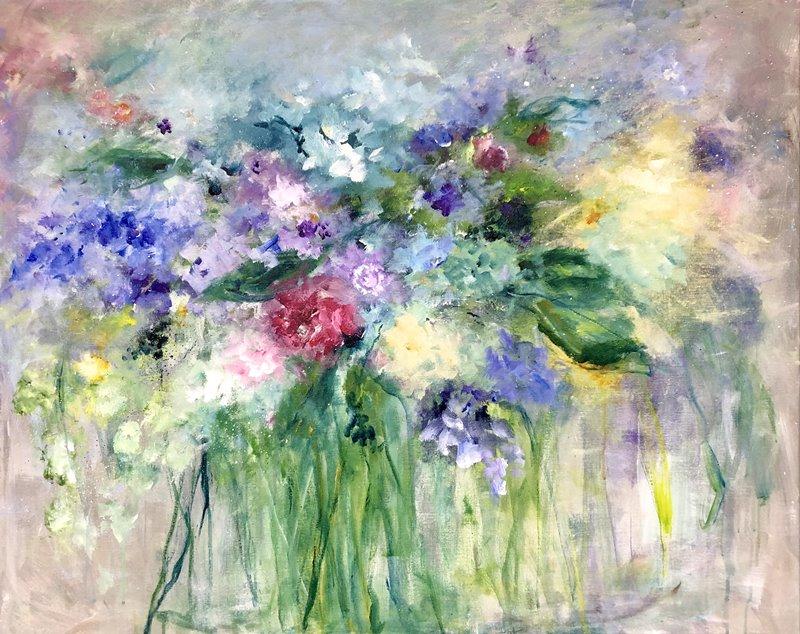 Melodie van bloemen (100 x 80)