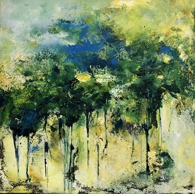 In de beschutting van het woud (50 x 50)