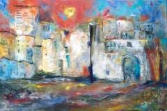In de oude stad (120 x 80)