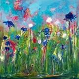 De blauwe tuin (70 x 70)