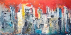 Stad aan het water (140 x 70)