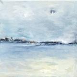 Aan de horizon (40x40)